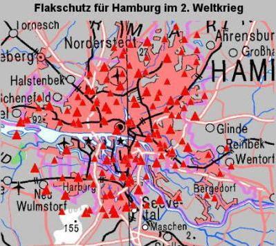 Schlachtfelder Des 2 Weltkriegs Karte.Flakschutz Fur Hamburg Im 2 Weltkrieg