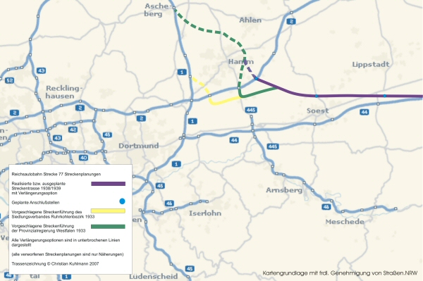 Strecke 77 Autobahn Relikte Zwischen Kassel Und Ruhrgebiet